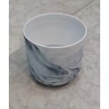 Vase porcelaine marbrée 13x13cm